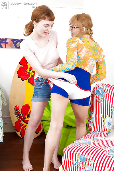 Horny young lesbian amateurs..