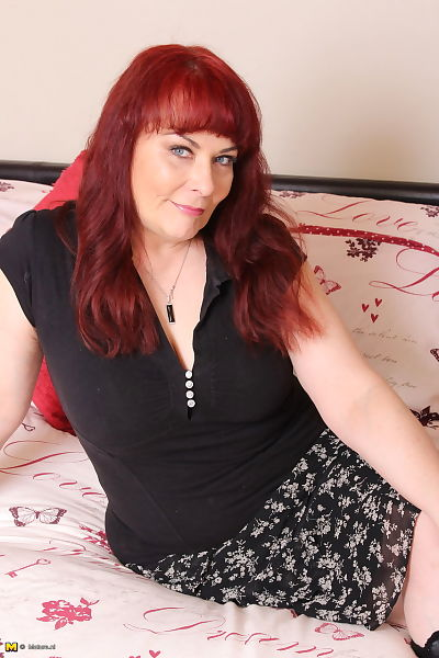 Mature redhead housewife..