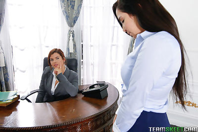 Young secretary is punished..